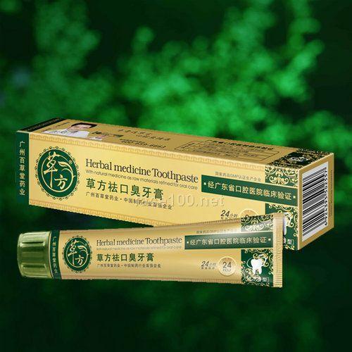 百草堂草方祛口臭牙膏