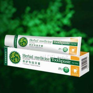 草方养护专效牙膏