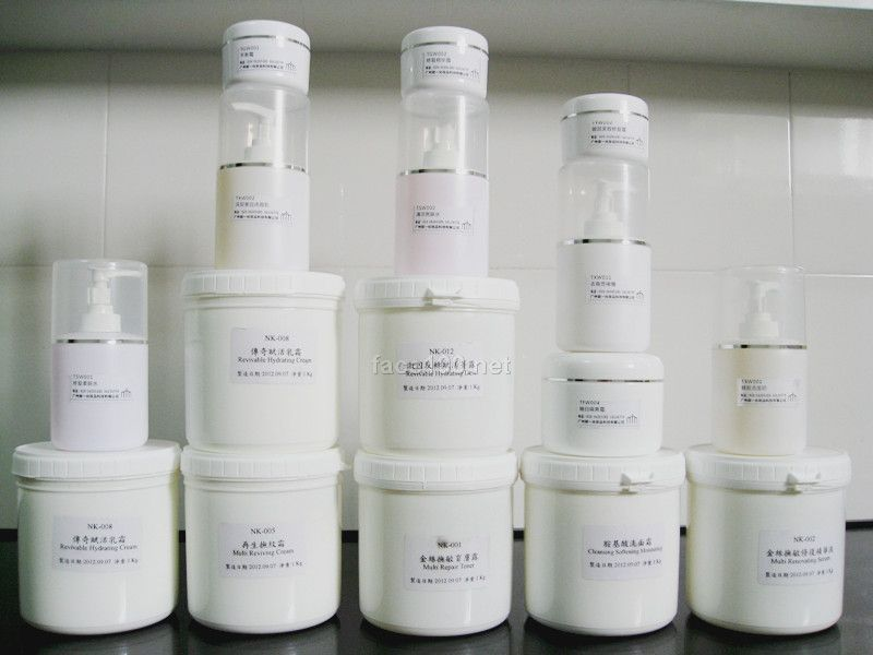 美容院原装进口高端化妆品半成品膏体批发oem代工