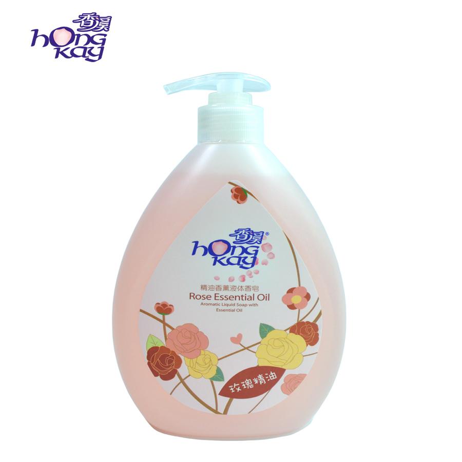 500+35ml精油香薰液体香皂(玫瑰)(招商代理、日化批发)