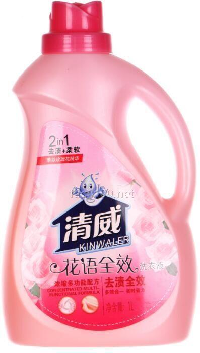 2000ml清威花语全效洗衣液批发代理