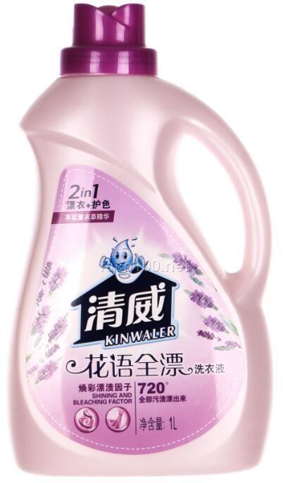 2000ml清威花语净柔洗衣液批发代理