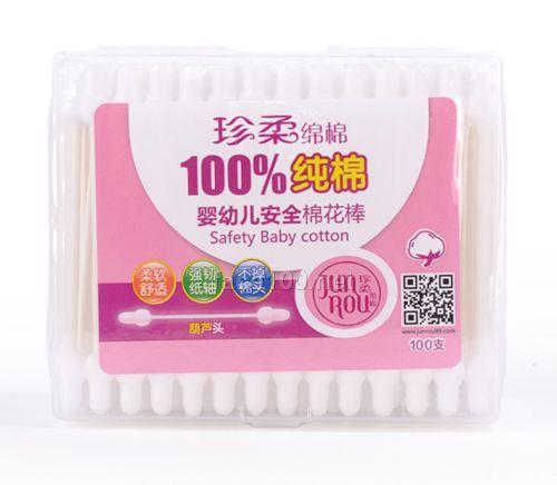 100支婴儿安全棉花棒