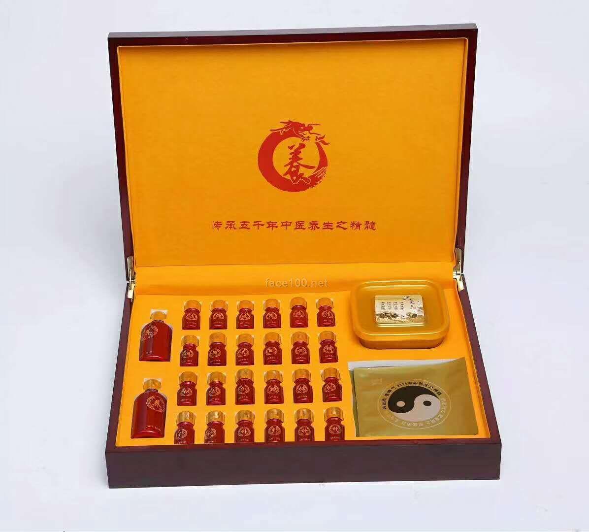 高档红 木盒  养生套盒功效齐全