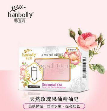 韩宝莉玫瑰果油手工洁面皂精油皂保湿嫩白控油洗脸沐浴香批发代理