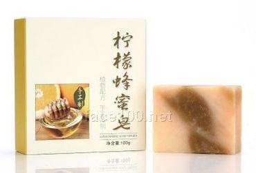 手工皂代加工柠檬蜂蜜冷制皂批发润肤清洁洁面植物香皂厂家定制