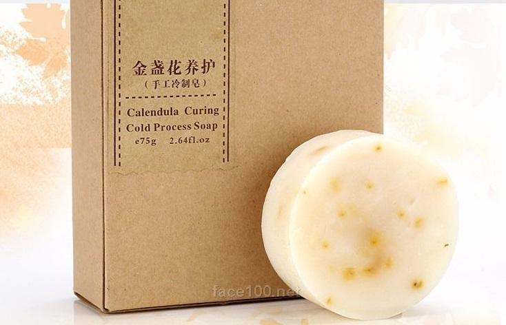 手工皂厂家批发金盏花洁面皂滋润肥皂oem一件代发定制香皂