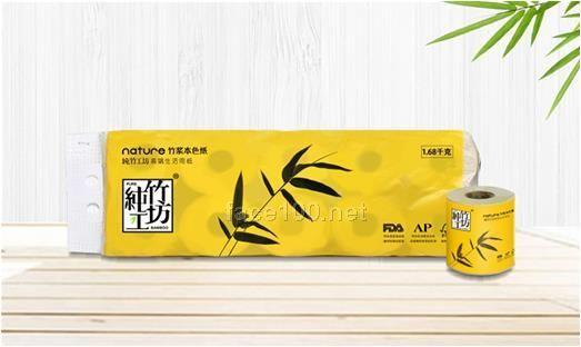 纯竹工坊有芯有膜卷纸1680g