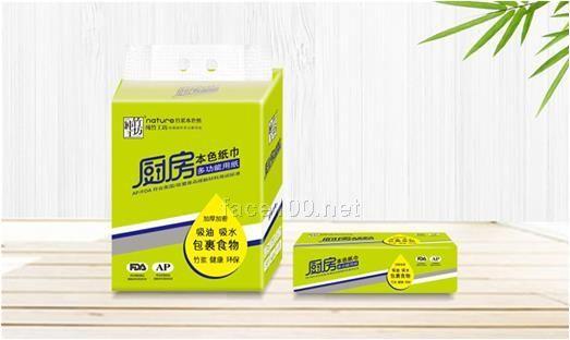 纯竹工坊多功能厨房用抽纸(100张)