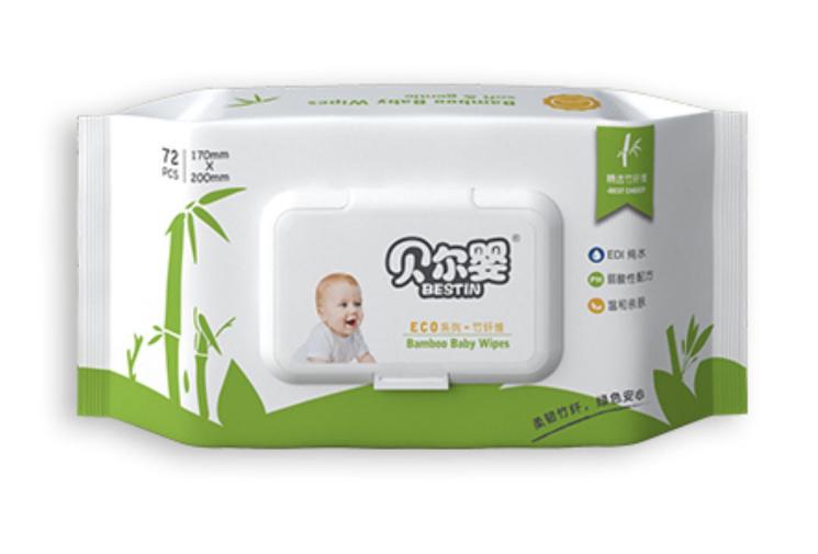 全植物婴儿湿巾72片装