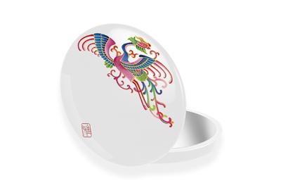 精美古风图案LED化妆镜