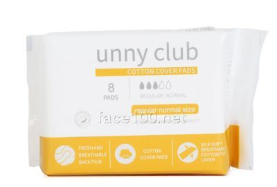 unny club亲肤245日用超薄卫生巾(8片装)