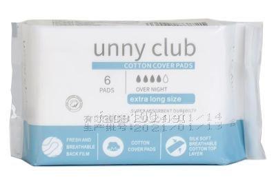 unny club亲肤290夜用超薄卫生